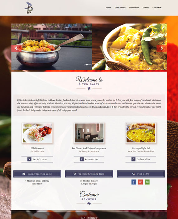 B Ten Balti E-Commerce Website